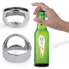 Stainless Steel Finger Ring Style Beer Wine Bottle Opener (22mm Diameter)