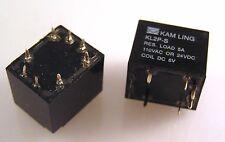 Kam Ling KL2P-S 6V Relé (DPCO 5A) MBA015a Sellado de montaje de PCB 2 piezas