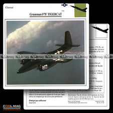 #037.20 GRUMMAN F7 F TIGERCAT - Fiche Avion Airplane Card
