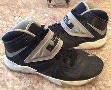 Nike Lebron Soldier 7 Kids Black/Gray/White Basketball Sneakers Sz:6Y 599818-003
