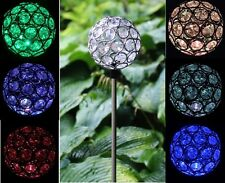 Solar Power Crystal Ball Garden Stake Lamp Landscape Color Change Yard LED Light