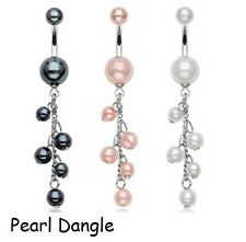 New Selection Fixed & Dangle Belly Bars Navel Piercing CHOOSE DESIGN UK SELLER