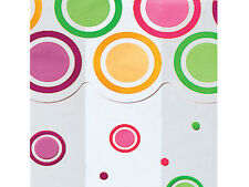 25 Mod Dots Clear Cellophane Mother's Day small Gift Candy Goody Cello Bags