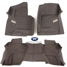 15-17 GMC Sierra Double EXT Cab Floor Liner Package Cocoa Front & Rear OEM GM