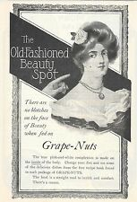 1902 ORIGINAL  Ad Grape-Nuts- no blotches on face when fed grape-nuts