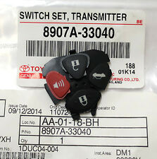 GENUINE PARTS KEY REMOTE 3 OR 4 BUTTONS FOB WITH INNER RUBBER FOR MOST TOYOTA