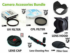 FK59u CPL UV Filter + Lens Hood + Cap + LensPen for Sony A55 A56 A57 A58 18-55mm