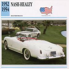 1952-1954 NASH HEALEY Classic Car Photo/Info Maxi Card