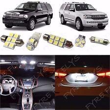 15x White LED lights interior package kit for 2007-2013 Lincoln Navigator LN1W