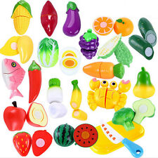 SUP Pretend Role Play Kitchen Fruit Vegetable Food Toy Cutting Set Child Gift