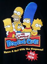 VTG THE SIMPSONS FAMILY BOWLING CLUB T-SHIRT SIZE XXL 2XL RARE FOX NWOT BLACK