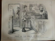 """7x10"""" PUNCH cartoon 1855 WHAT IS PRICE OF PEACE palmerston , crimea"""