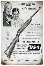 BSA .22 Airsporter Rifle Advertisement Birmingham Small Arms Co., Sign