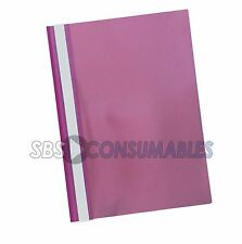 A4 Project Folders / Report Files - Clear 2 Prong - For Documents / Presentation