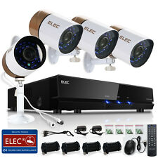 ELEC 8CH Outdoor 1500TVL CCTV Camera Home Surveillance Security System 960H DVR