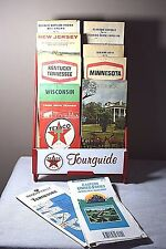 Vintage Texaco Tourguide Metal Map Rack w/ Maps - GA, NJ, MN, WI, TN, KY & more