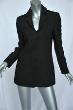 MARTINE SITBON Sparkling Black Wool 3-Button Blazer Jacket Sportcoat Coat S/40