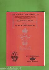 #SS. RUGBY UNION PROGRAM-  1991/92, SOUTH WALES POLICE VS BRIDGEND