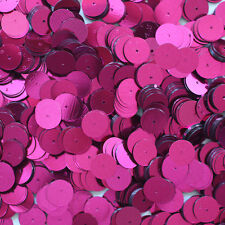 10mm Flat SEQUIN Loose PAILLETTES ~ FUCHSIA PINK Metallic ~ Round Disc ~