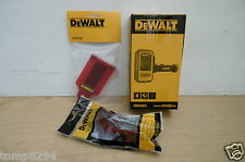 DEWALT DE0892 DETECTOR DE0730 TARGET CARD & GLASSES FOR RED LASER LINE LEVELS
