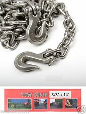 "3/8"" X 14ft Tow Chain Automotive Truck Towing Log Chain"