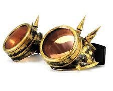 Oro de Soldadura Cyber Gafas Gótico Steampunk Punk Gafas de sol con picos de vapor