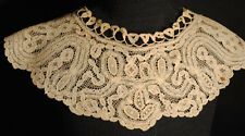 ANTIQUE LACE COLLAR VICTORIAN WEARABLE PRINCESS TAPE LACE FASHION COLLAR