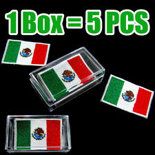 Mexico Flag Embroidered Patch Mexican Iron On National Emblem (1Box = 5 Pcs) Lot