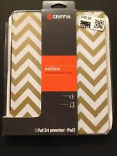 NEW GOLD ZIGZAG GRIFFIN INTELLICASE WAKE UP + SLEEP for iPad 3rd Gen & iPad 2