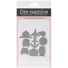 "MY FAVORITE THINGS-Die-Namics Die Accent It - World Traveler, 9 Pieces 1x1""~ NIP"