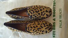 Stubbs and Wootton Cheetah Cat Print Slippers Loafers Shoes SZ 8