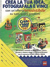 X0810 LEGO - Crea l'idea - Pubblicità del 1995 - Vintage advertising
