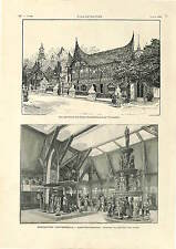 Exposition Universelle Pavillon Dutch India / Mission Boer USA PRINT 1900