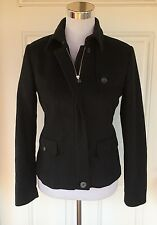 J. Crew Women's Sz 2 XS S Black 100% Wool Zip Casual Jacket Coat