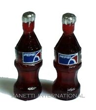 Set of 2 Dollhouse Miniature Pepsi Bottles * Doll Mini Food Drink Tiny Soda Cola