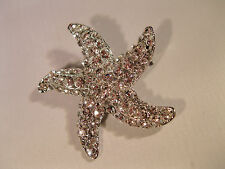 "BEAUTIFUL SPARKLING ALL RHINESTONES ""STARFISH"" BROOCH W/SILVER FINISH-NEW!"