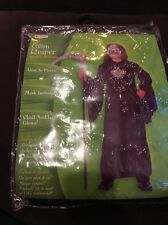 New Boys Messenger of Death Grim Reaper costume S Small 4-6X Mask And Necklace