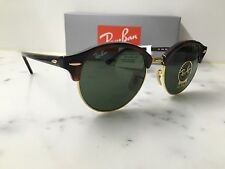 NEW Genuine Rayban Club Round  RB4246 Col 990  51/19  Red Havana/Gold Sunglasses