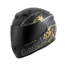 SCORPION EXO-R710 Golden State Full Face Motorcycle Helmet Black/Gold Size XS