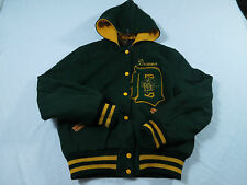 Vtg Skookum Womens Varsity Letterman Marching Band Hood Hooded Jacket Coat Sz 38