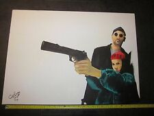 Leon (The Professional) Movie Painting on Canvas - Jean Reno & Natalie Portman