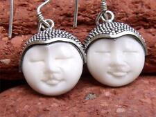 HANDCRAFTED BALINESE 925 STERLING SILVER BONE FACE EARRINGS SILVERANDSOUL