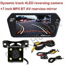 "7"" inch Screen BT MP5 + 4LED Car Track Dynamic Trajectory Rearview CCD Camera"