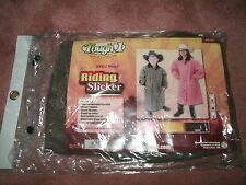 Child's Med Brown Tough 1 Deluxe PVC/Vinyl Riding Slicker w/ Removable Hood