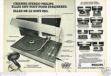 Publicité advertising 1976 (2 pages) Chaines Stereo Philips GF 851