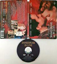 Shakespeare in Love (1998) DVD EDizione Steelbook Rarissima