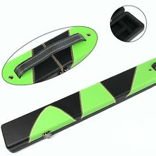 Professional High Quality GREEN & BLACK 3/4 Pool Snooker Cue Case