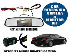 "Car Reversing Camera Kit, Micro Parking Camera With 4.3"" LCD Mirror Monitor"