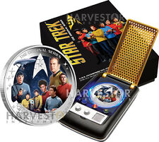 2016 STAR TREK: THE ORIGINAL SERIES -   2 OZ. SILVER - U.S.S. ENTERPRISE CREW