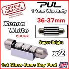 2x ERROR FREE CANBUS Xenon White 3 SMD LED 36mm 239 272 C5W NUMBER PLATE BULB